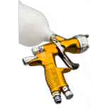 DeVilbiss GTI Pro Lite Spray Gun TE10 Aircap, Supplied With 1.2mm & 1.3mm Set Up  Gold
